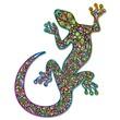 Gecko Geko Lizard Psychedelic Art Design-Geco Psichedelico - 47799470