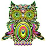 Fototapety Owl Psychedelic Pop Art Design-Gufo Psichedelico Decorativo