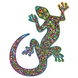 Fototapety Gecko Geko Lizard Psychedelic Art Design-Geco Psichedelico