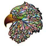 Eagle Hawk Psychedelic Art Design-Aquila Falco Psichedelico