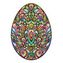 Easter egg psychodeliczny sztuki projektowania ozdobnych pisanka