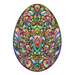 Easter Egg Psychedelic Art Design Uovo di Pasqua Ornamentale