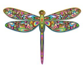 Dragonfly Psychedelic Art Design-Libellula Pop Art