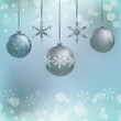 Illustration of three Christmas decoration balls