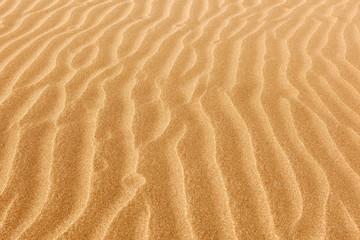 Clean rippled sand on the beach