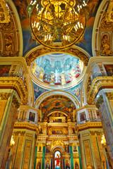ST. PETERSBURG, RUSSIA FEDERATION - JUNE 29:Interior of Saint Is