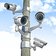 cctv and sky background
