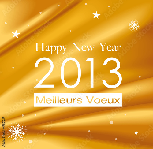 Carte de voeux happy new year 2013