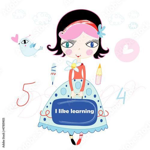 beautiful schoolgirl - 47801403