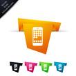 Symbole vectoriel papier origami smartphone / applications