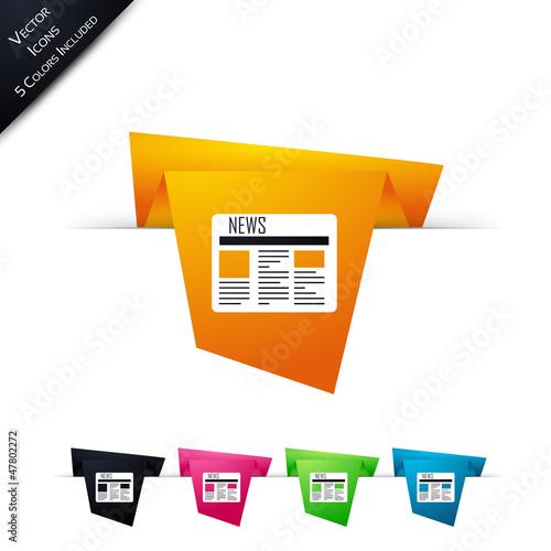 Symbole vectoriel papier origami Journal / actualité / infos