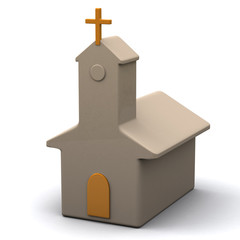Church icon, 3d image