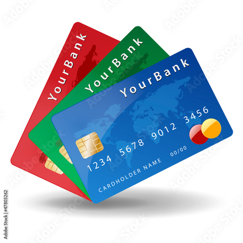 Three credit card