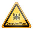 """Hazard Sign """"Computer Worm"""""""