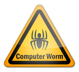 "Hazard Sign ""Computer Worm"""