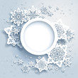 Abstract design with snowflakes