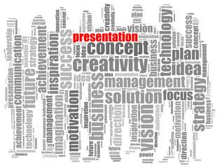 Vision info-text graphics and arrangement concept