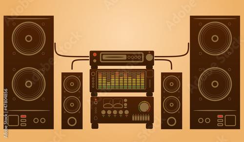 Retro stylish audio system
