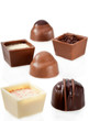 Chocolate  Candy Assortment on white background
