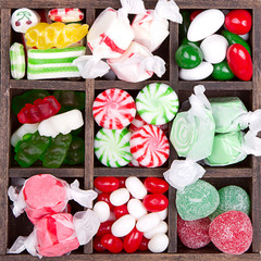 Assorted Christmas candy