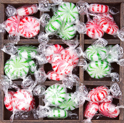 christmas peppermint candy in box