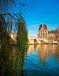 Louvre Museum and Pont Royal, Paris - France