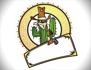 Logotipo Cactus Vaquero Mexicano