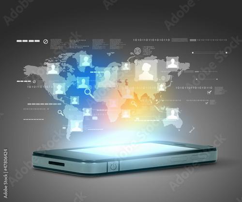 Leinwandbild Motiv Modern communication technology