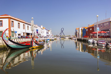 A view of a water canal, Aveiro, Portugal