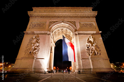 Arc de Triomphe, Paris, France.