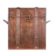 Wooden trunk or chest isolated