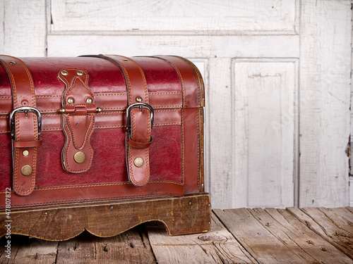 Leather trunk or chest
