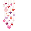 Hanging Hearts Love Letter Retro