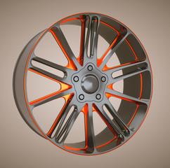 Alloy wheel or disc of sportcar