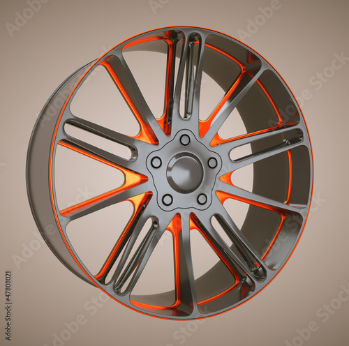 Alloy wheel or disc of sportcar