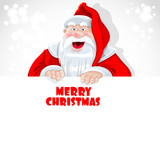 Santa Claus hold big banner