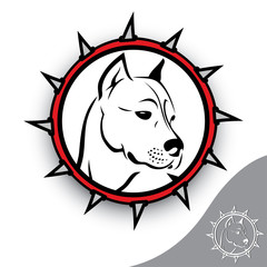Staffordshire terrier sign