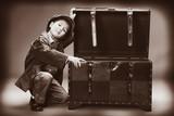 Fototapeta zabawny - walizka - Dziecko