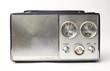 vintage portable silver radio