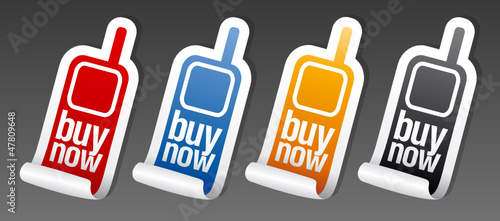 Buy now phone stickers set
