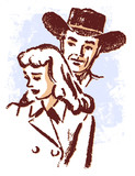 cowboy and a sad looking woman