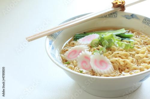 Poster Japanese ramen noodles with Kamaboko naruto