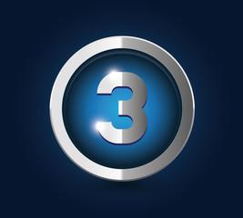 Number 3 steel blue