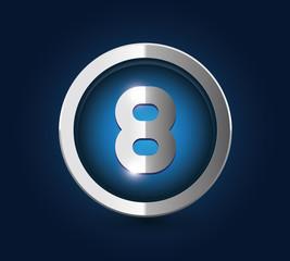 Number 8 steel blue