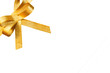 Schleife, gold, freigestellt, #4