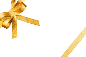 Schleife, gold, freigestellt, #3