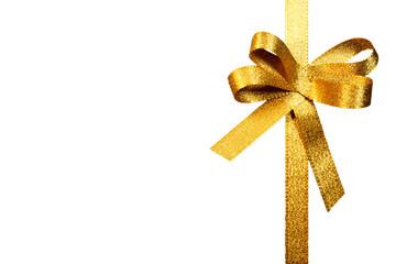 Schleife, gold, freigestellt, #6