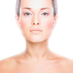 beautiful woman with clean fresh healthy skin