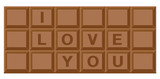Chocolate bar for valentine