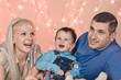 portrait if happy family
